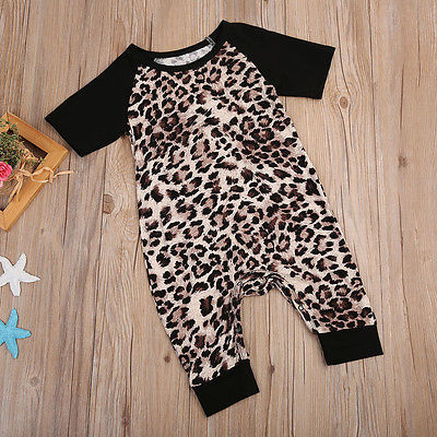 Black Infant 0-24M Baby Boys Girls Short Sleeve New Romper Outfits Sunsuit Kids One-Pieces Clothing