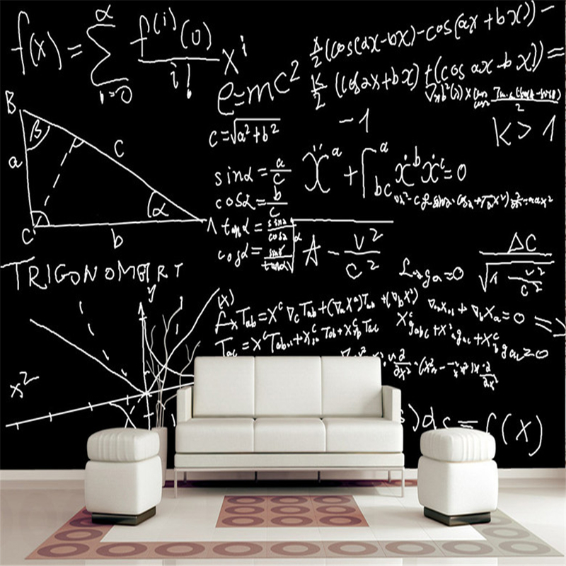 Custom Vintage Wallpaper Mathematical Formula Function 3d Wall Murals Printing 3d Photos TV Background Wall Mural Wallpaper free shipping hepburn classic black and white photos wallpaper old photos tv background wall mural wallpaper