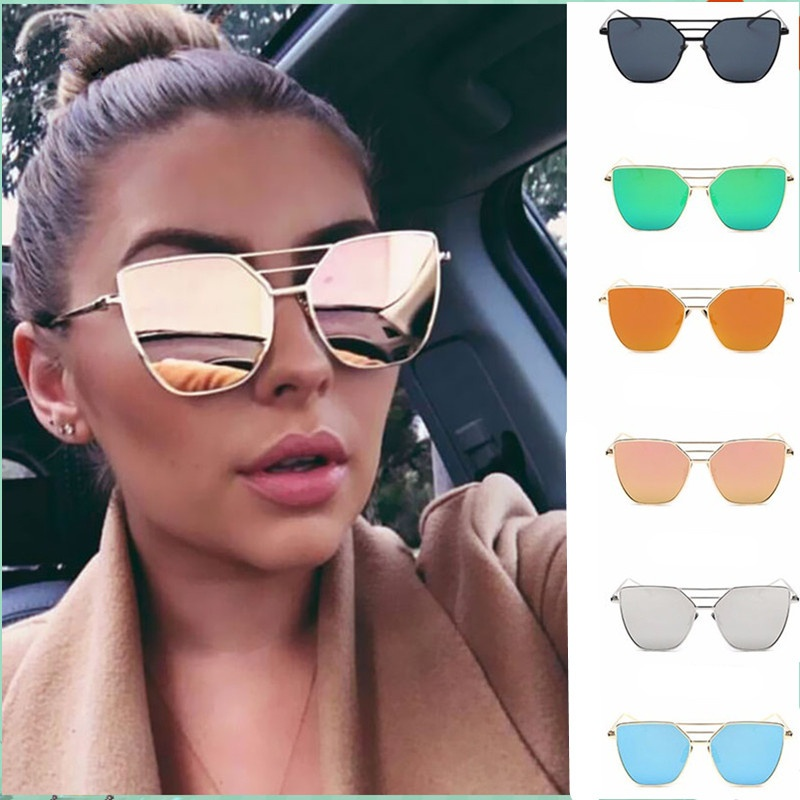 71c36a0a5 New Unisex Flat Mirror Top Rose Gold Men Women Mirror Sunglasses Fashion  Brand Designer Cool Uv 400 Sun Glasses-in Sunglasses from Apparel  Accessories on ...