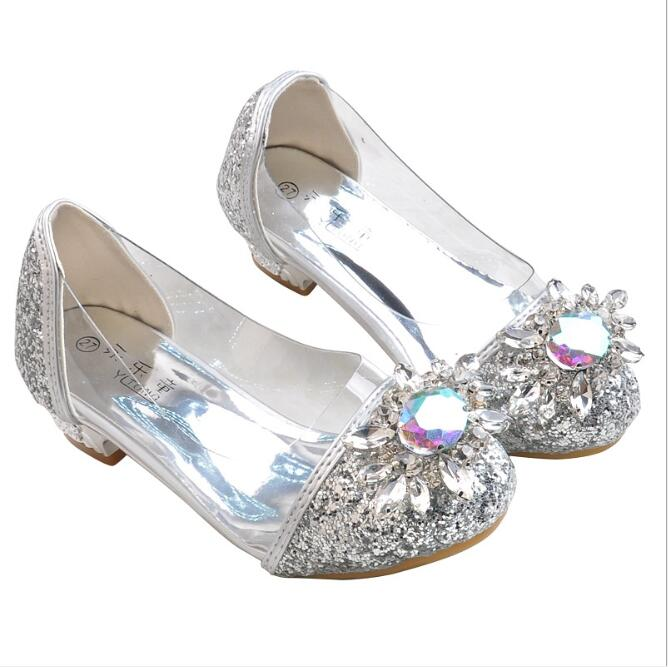 Cute Baby Girls High Heel Shoes For Kids PU Leather Crystal Rhinestone Flowers Spring Autumn Children Shoes FlatCute Baby Girls High Heel Shoes For Kids PU Leather Crystal Rhinestone Flowers Spring Autumn Children Shoes Flat