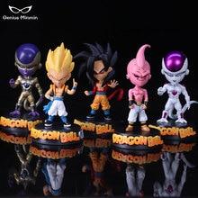 5 style Dragon Ball Z Goku Super SaiYan Awakening Gohan Father Trunks Vegeta PVC Anime Figure DBZ Collection Model 21cm