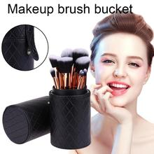 Portable PU Leather Makeup Storage Holder Cosmetic Cup Case Box Organizer Container for Makeup Brushes Pen Black Color цены