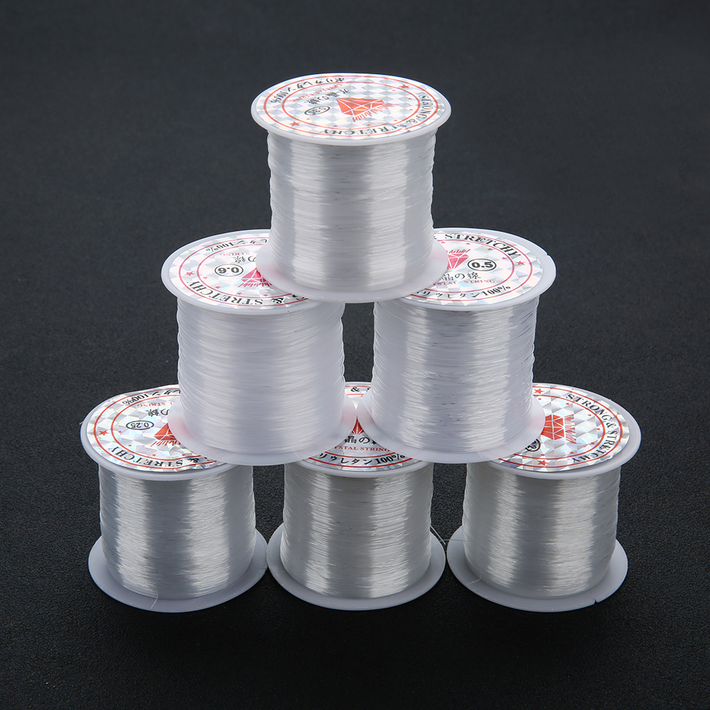 1 Roll 0.2 0.25 0.3 0.35 0.4 0.45 0.5 0.6MM Transparent Fish Line Wire Cord No Stretch Crystal Beading Thread for DIY Jewelry цена