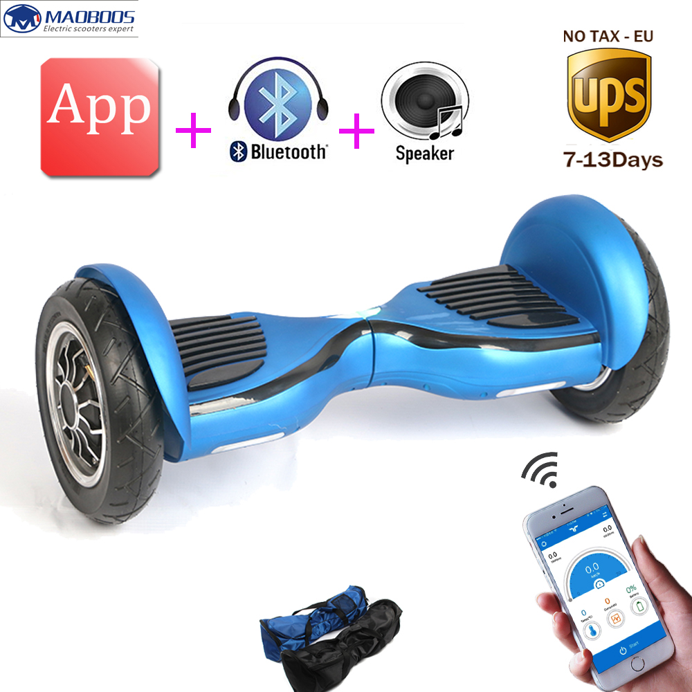 Tax free Hoverboard App self balancing scooter balance font b car b font electric unicycle overboard