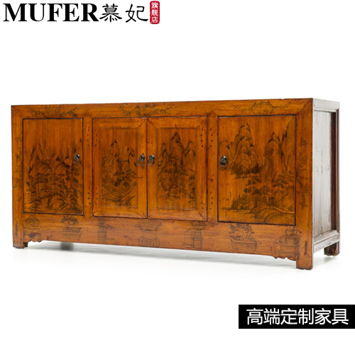 Modern Dining Room Furniture New Chinese Do The Old Style Hand Painted Cupboard Side