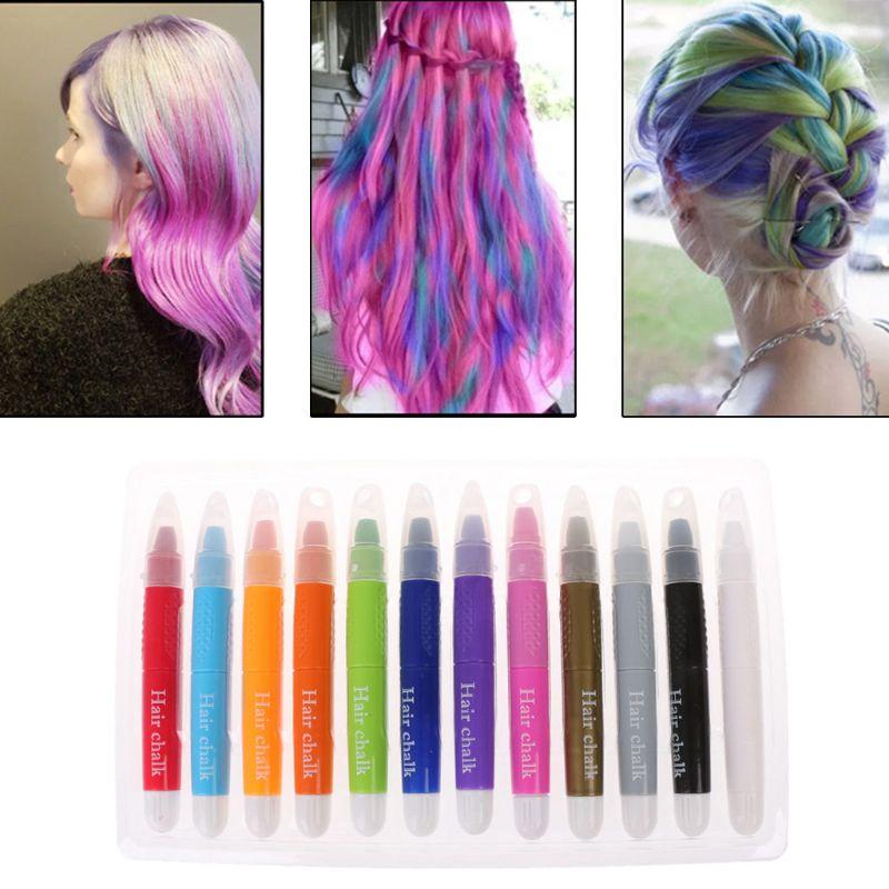 12pcs Hair Chalk Pens Kids Toy Hair Chalk Dye Hair