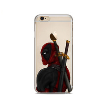 Marvel Deadpool Soft silicone Phone Case For iphone 8 8Plus 7 7Plus 6 6S 6Plus 5 5S SE
