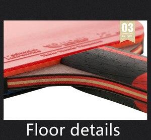 Image 4 - למעלה פחמן באיכות שחור להב S6 שולחן טניס מחבט מקצועי עם גומי פינג פונג משוט טניס שולחן מחבט