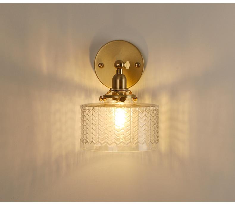 El bronze lâmpada de parede com ondulações