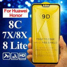 Protective glass honor 7x on for huawei 8x tempered 8 lite x8 screen protector 8c 7 x c hauwei honer honor8x honor7x 8lite light(China)