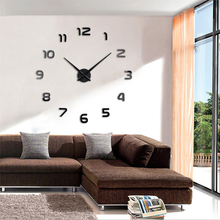 2019 Free Shipping New Clock DIY 3D Mirror Acrylic Watch Wall Clocks Stickers Quartz Clock Modern Home Decor Relogio De Parede creative geometric flower black wall clock modern design with wall stickers 3d quartz hanging clocks free shipping home decor