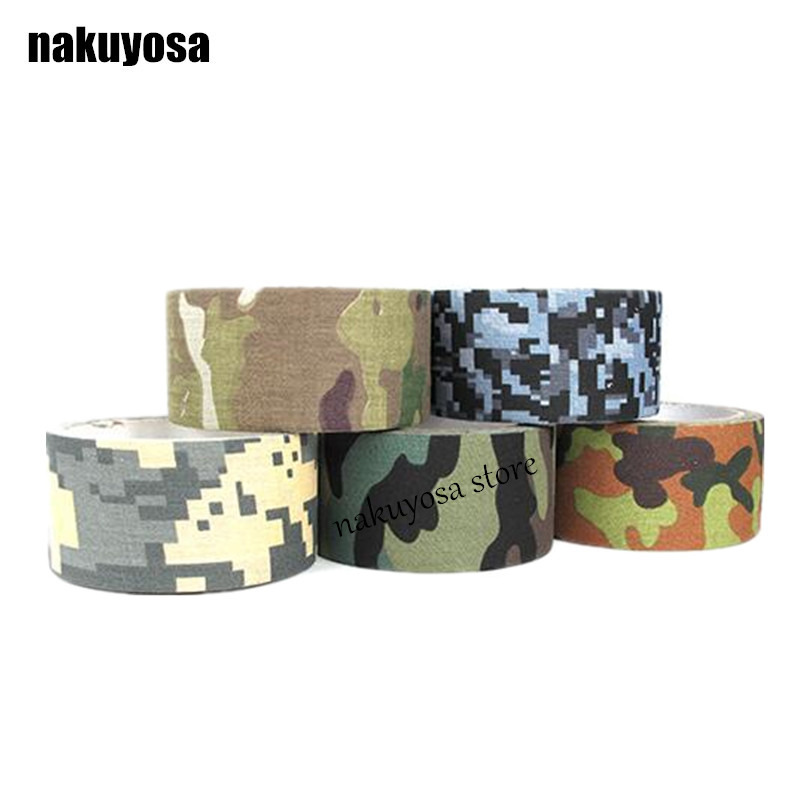 2pcs Camo Wrap Self-adhesive Airsoft Camouflage Stealth Tape For Hunting New