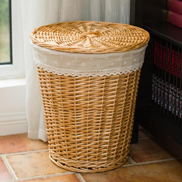 Cesto de la ropa canasta de ropa sucia para recibir recibir cesta de mimbre cesta de juguetes - Cesto ropa mimbre ...