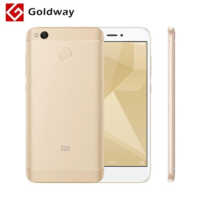"""Оригинальный Xiaomi Redmi 4X4 X мобильный телефон 3 ГБ Оперативная память 32 ГБ Snapdragon 435 Octa Core 5,0"""" HD 4 г LTE 13.0MP 4100 мАч отпечатков пальцев ID"""
