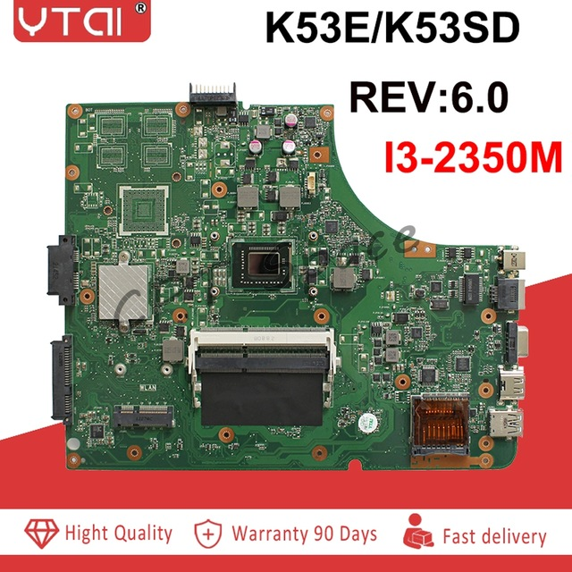K53SD  Motherboard REV:6.0 I3 GT610MFor ASUS K53SD A53S Laptop Motherboard K53SD Mainboard K53SD Motherboard Test 100% OK