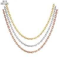 HELON 18 К Solid розовое золото Желтое золото Белое золото цепь 18 около см 45 см ожерелье Au750 Ожерелье Свадебная вечеринка подарок для женщин