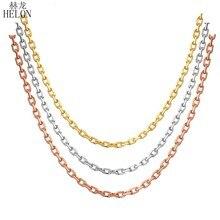 b8e586725d42 HELON 18 K Rosa oro amarillo oro cadena de oro blanco de 18