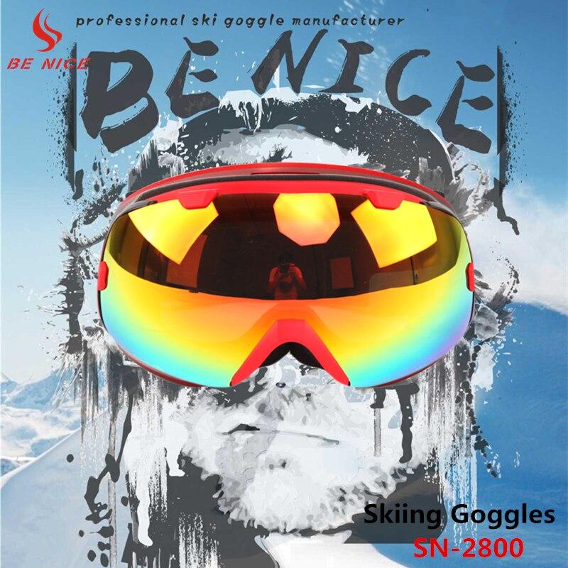 BENICE Snow Ski Goggles Anti-fog Windproof Eyewear Unisex For Winter Sports SK-2800