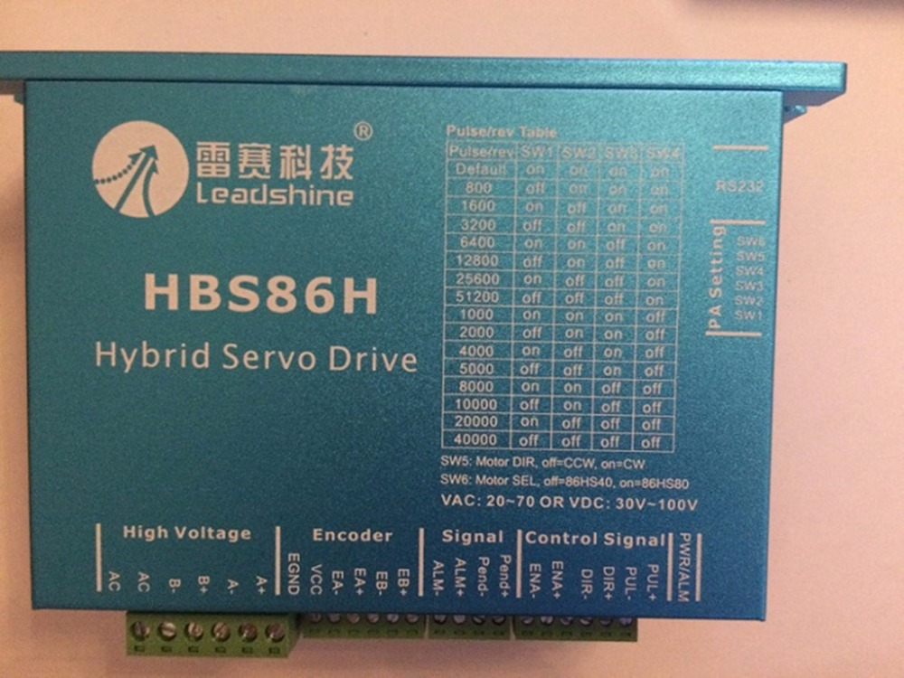 NEMA34 2phase closed loop motor hybrid servo drive HBS86H leadshine 24-75VAC new original new original servo motor msmd042g1u 400w 3000rpm 1 3n m full closed type 60mm