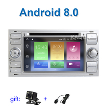 IPS screen Android 8.0 Car DVD Player Stereo for Ford Transit Fiesta Mondeo S C Max Galaxy Fusion Kuga Focus with WiFi Radio GPS