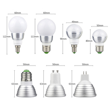LED RGB Bulb Lamp E27 E14 GU10 MR16 3W LED Changeable Spotlight Bulb 85-265V Magic Holiday RGB Lamp with IR remote 16 colors