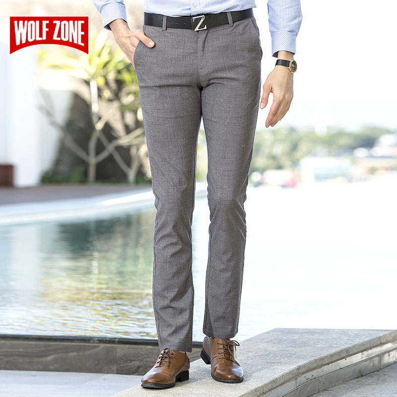 Brand Classic Casual Pants Men 2018 New Cotton Fashion Slim Fit Straight Pant Formal Business Suit Mens Trousers Size 29-40