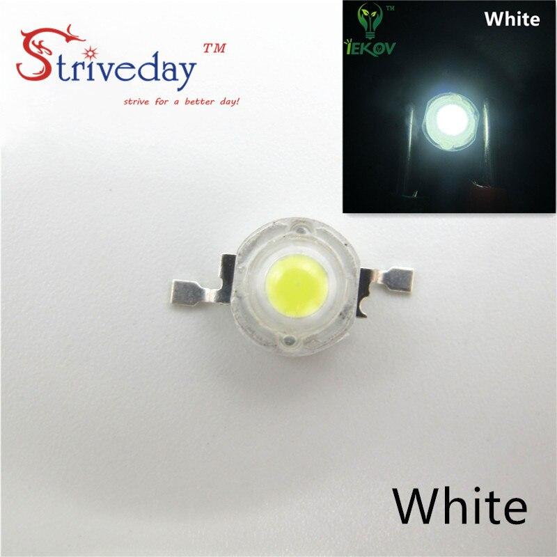 10pcs High Power Led Light 1W / 3W Led Lamp Diodes Leds Bulb Lamp Warm White/white/red/blue/green/yellow For LED Spotlight