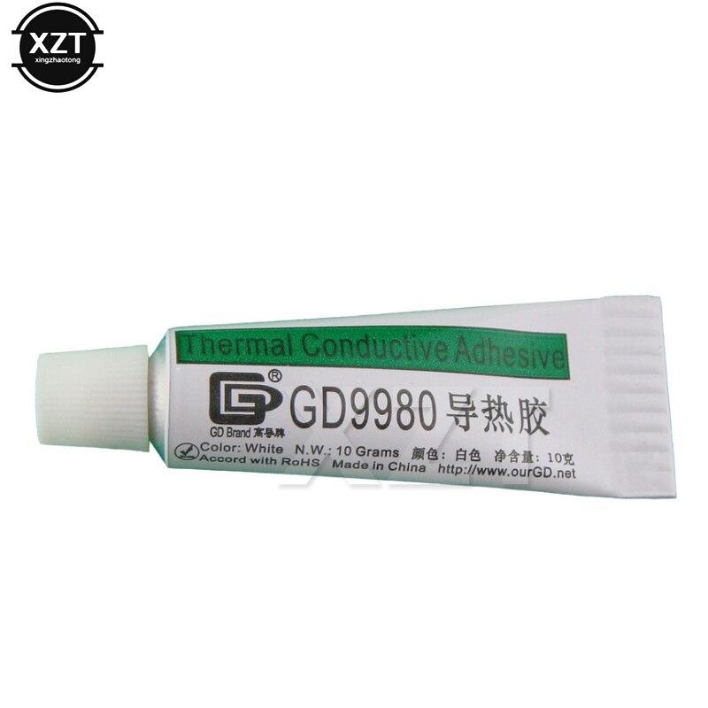 1 шт., Теплопроводящий пластмассовый клей GD9980, теплоотводящий пластырь с клейкой сеткой 10 г, белый