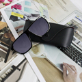 Trendy Retro Steampunk Square Male's Sunglasses Men Brand Designer  for Men Points Plus Glasses Case