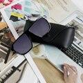 Trendy Retro Steampunk Square Male's Sunglasses Men Brand Designer  for Men Points Plus Glasses Case
