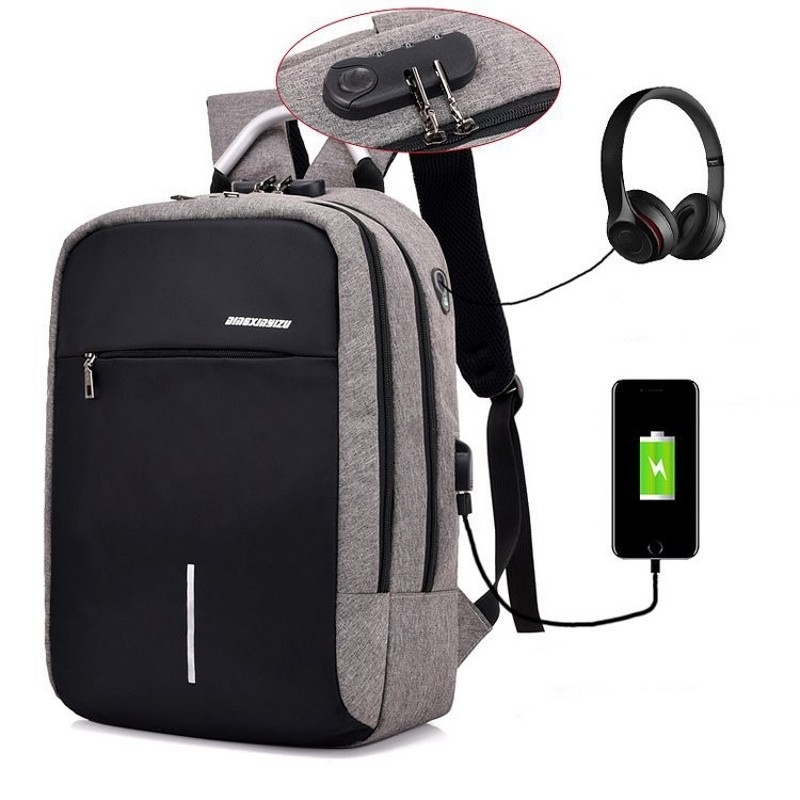 Safebet Brand Traveling Double Backpack Men And Women Fashion Multi-function Anti-theft Backpack Smart Usb Charging Backpack