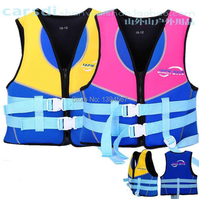 Top Quality Children Water Sports Safety Products Swim Vest Kids Yellow Pink Floating Life Vests