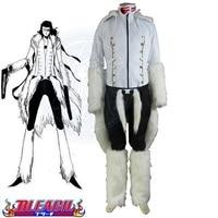 High Q Unisex Anime Cos Bleach The Tercera Espada No.1 Coyote Starrk Resurreccion Form White Kimono Cosplay Costume Sets