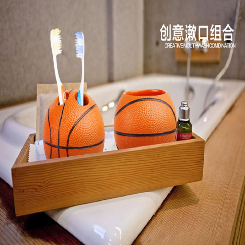 Delicieux Cute Basketball Resin Bathroom Accessories 5 Pieces Conjunto Para Banheiro  Wedding Gift Bathroom Set Resin Bathroom Accessories In Bathroom Accessories  Sets ...