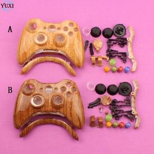 Image 1 - YuXi בצבע עץ ידית מעטפת החלפת לחצן עבור Xbox Gamepad Case כיסוי עם סט מלא 360 משחקי xbox360 בקר
