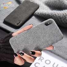 KISSCASE чехол для iPhone X 8 7 6s 6 Роскошная текстура ткани мягкие чехол для iPhone XR XS Max 7 8 плюс Аксессуары для мобильных телефонов
