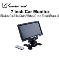 Free Shipping 7 inch Car LCD Monitor Support 2CH Video Input
