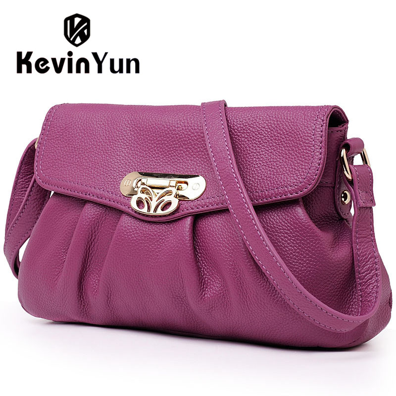 KEVIN YUN Fashion Genuine Leather Bag Ladies Casual Women Messenger Bags Small Crossbody Shoulder Bag Female Designer Brand crossbody bag handbag 2018 new brand designer messenger bags genuine leather women s female fashion woman chains bag shoulder