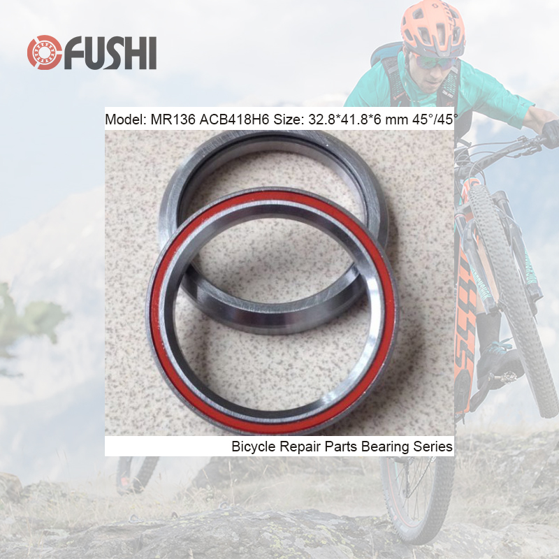 MR136 Bearing 32.8*41.8*6mm 45/45 ( 1 PC ) ACB418H6 Balls Bicycle 1-1/4 Inch Headset Repair Parts Ball Bearings