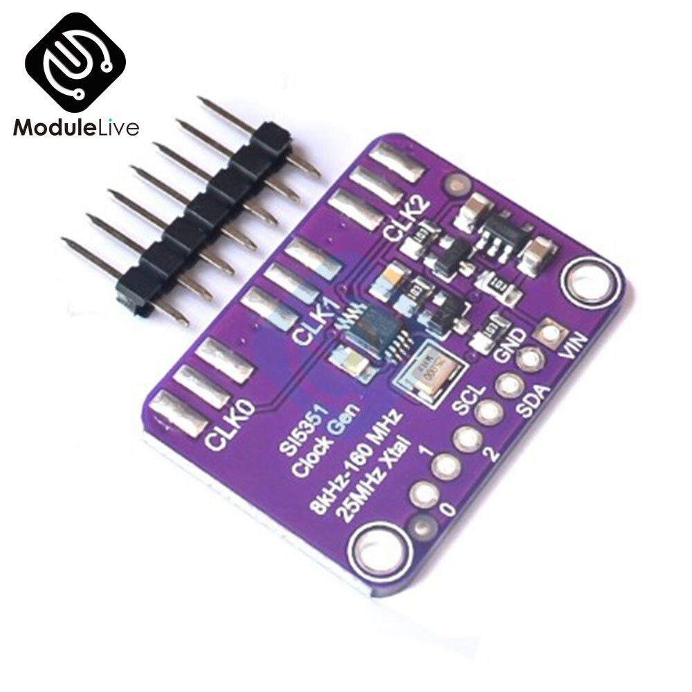 SI5351 Clock Frequency Generator Module GY-SI5351 Clock Signal Generator 8KHz-160MHz Module High Frequency Wave