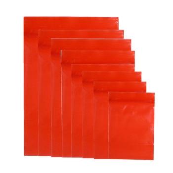 3000Pcs Bulk Plastic Red Zip Lock Package Bag Food Retail Ziplock Packing Pouch Reclosable Tea Nut Zipper Packaging Bag 10 Sizes