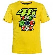 2017 homem verão quatro estilo motocicleta moda 100% camiseta de algodão corrida fit for yamaha MOTO GP ROSSI VR46 amarelo t camisa