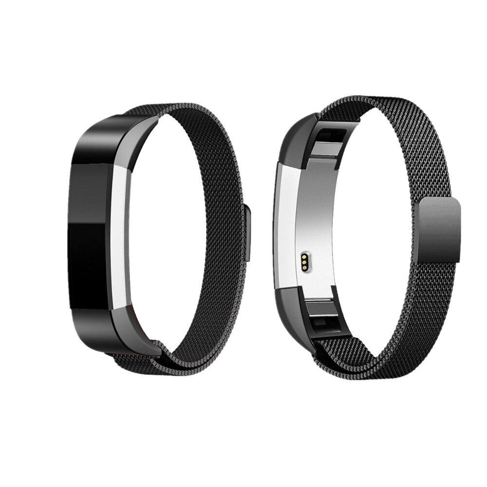 LNOP Milanese laço para Fitbit Alta/Banda substituição fitbit Alta banda HR Fechadura Magnética pulseira de Aço Inoxidável Bracelete de metal