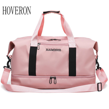 Women travel bag female large capacity short-distance hand luggage bag men dry and wet separation sports gym bag duffel bag sports gym bag waterproof travel duffel bag with wet pocket