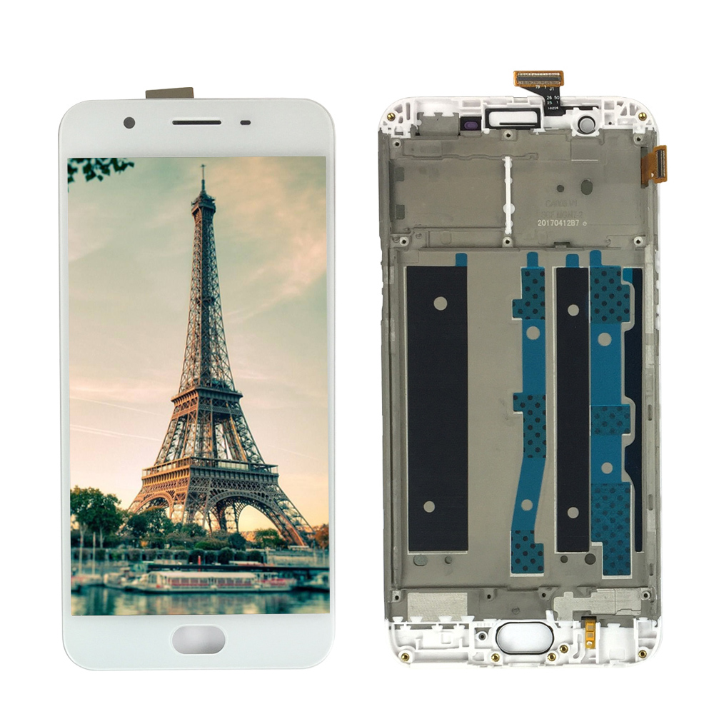 White 5.5 inch LCD For <font><b>OPPO</b></font> F1s A59 <font><b>A1601</b></font> LCD Display Touch Screen Digitizer Assembly With Frame Spare Parts image