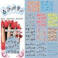 2015 NUEVA hoja de 50/lot Flor Tatuaje Clavo de la Serie Film Fashion Nail Patch Arte Producto de Uñas etiqueta engomada del clavo del agua + separado Embalado