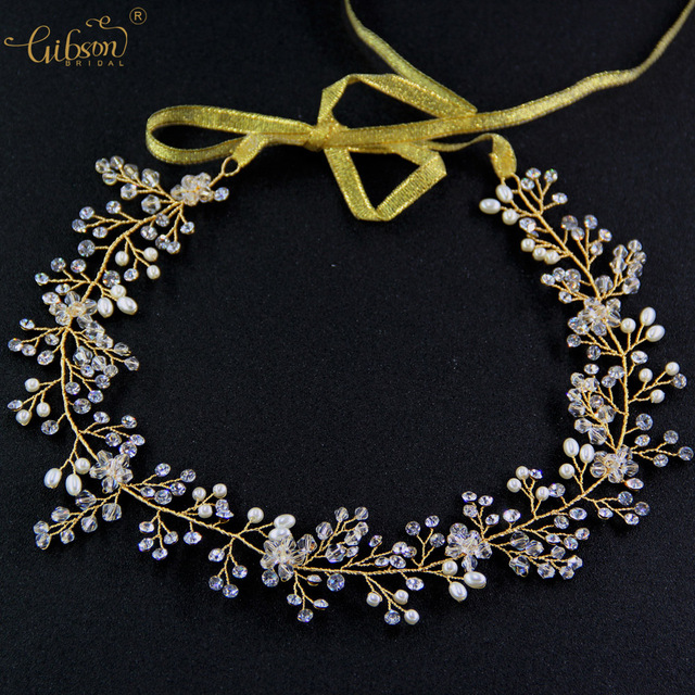 Free Shipping Handmade Crystal and Pearls Wedding Hair Vine Crystal Bridal Wedding Hair Accessories
