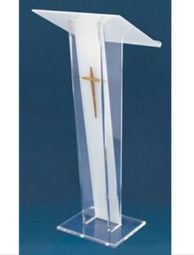 Купить с кэшбэком Acrylic Pulpit Plexiglass Modern Lectern Podium With Cross Acrylic Church Pulpit With Cross Lectern Speech Lectern