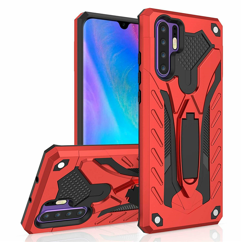 For <font><b>Huawei</b></font> P30 Pro P20 Mate 30 20 Lite Case Hybrid Armor Shockproof <font><b>Silicone</b></font> Stand Cover For <font><b>Y5</b></font> Y6 Y7 Y9 Prime <font><b>2019</b></font> P Smart Z image