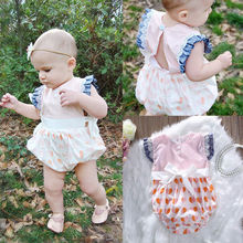 Toddler Infant Baby Girls Jumpsuit Lace Sunsuit Outfits Clothes